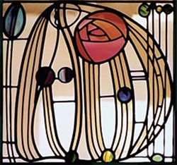 stained glass window by charles rennie mackintosh located. Black Bedroom Furniture Sets. Home Design Ideas