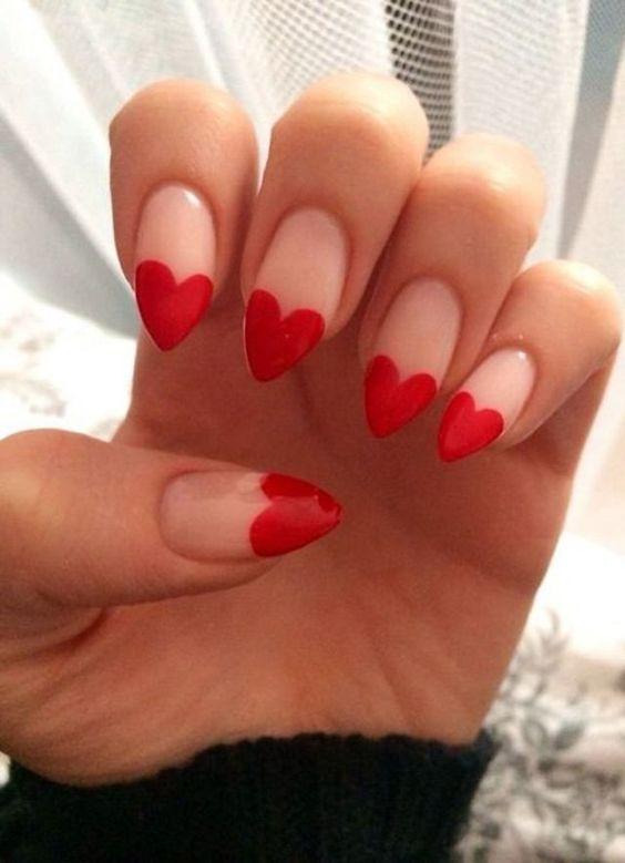 heart nail designs, heart french tip - vday nail ideas soyvirgo.com