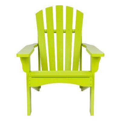 Rockport Adirondack Chair Lime Green Shine Company Inc Wood