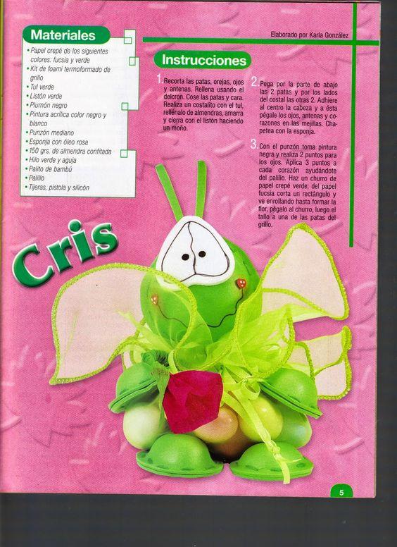 como hacer muñecos en papel crepe