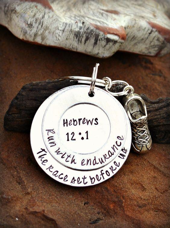 runner keychain Running Gift for Runner Jewelry First Marathon Gift Half Marathon 13.1 26.2 5K run like a girl marathon finisher