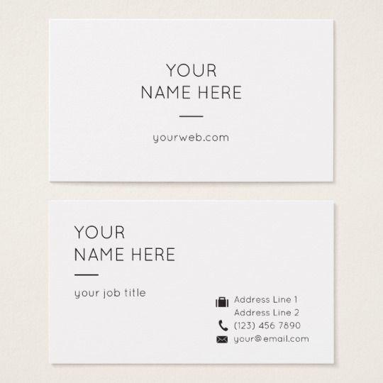 Minimalist Simple Clean Modern Business Card Zazzle Com Modern