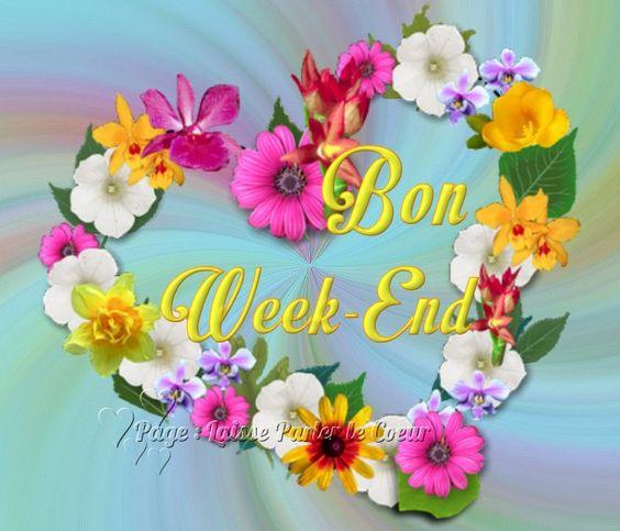 Bon Week-End #bonweekend couronne de fleur coeur