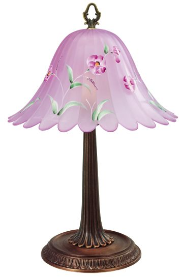 Fenton Art Glass Rosemilk Opalescent Stretch Lamp.