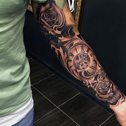 101 Best Sleeve Tattoos For Men Cool Designs Ideas 2019 Guide Sleeve Tattoos Best Sleeve Tattoos Rose Tattoo Sleeve