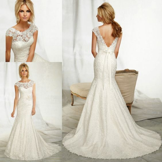Trumpet Style Wedding Dress With Sleeves 21