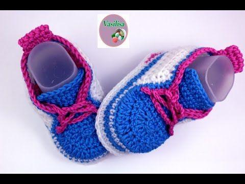 Сrochet baby sneakers - YouTube