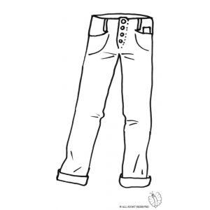 Disegno di pantaloni uomo da colorare vestiti da for Immagini di cavalli da disegnare
