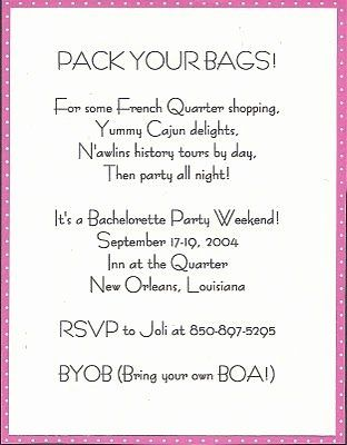 Byob Invitation Wording Samples Beautiful Bachelorette Party Weeke In 2020 Bachelorette Weekend Invitations Bachelorette Weekend Bachelorette Party Invitations Weekend