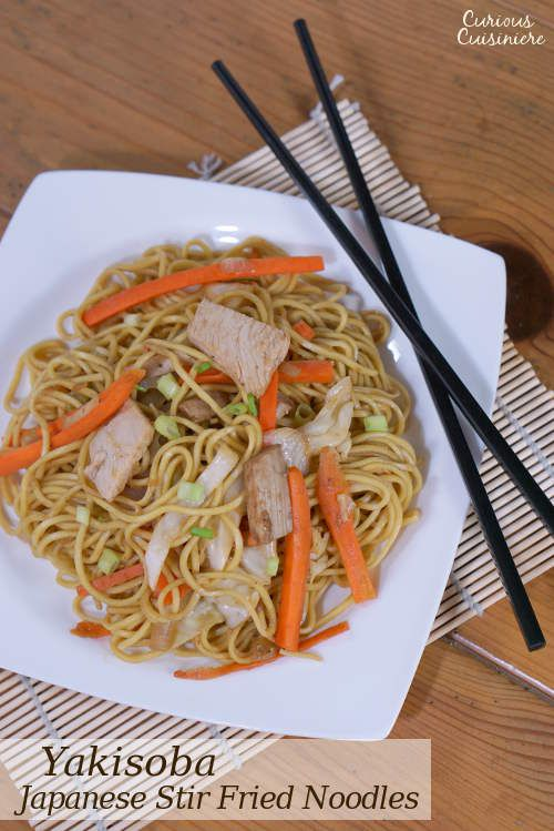 traditional Japanese Yakisoba is a budget-friendly stir fried noodle ...