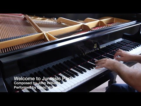 Welcome To Jurassic Park - John Williams - David Hicken - Awesome Piano ...