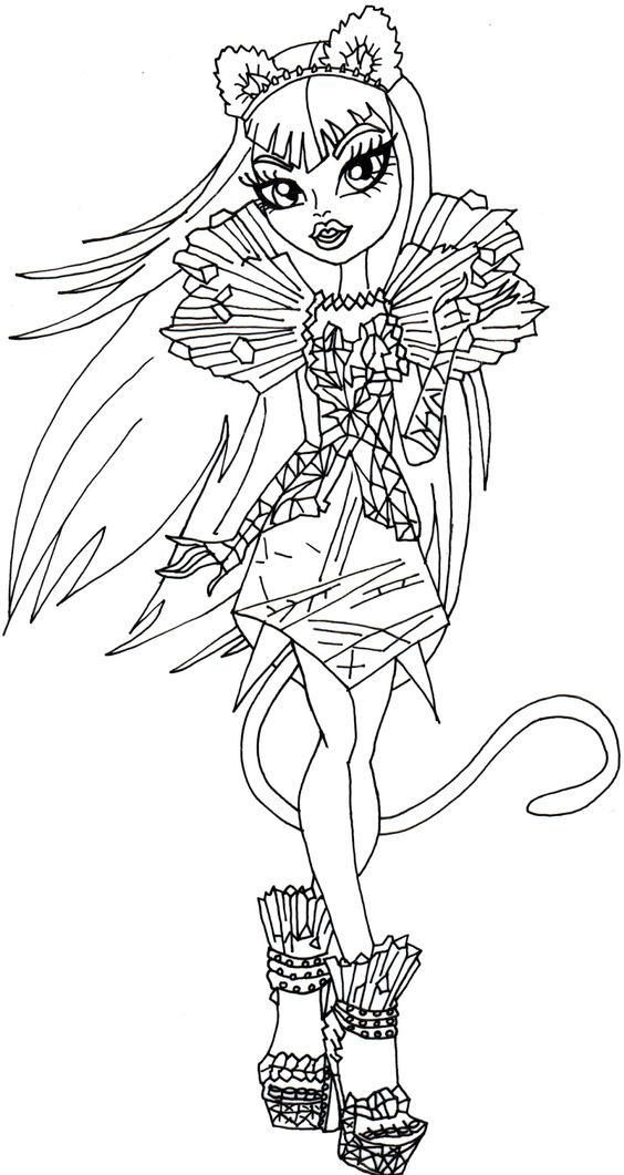 monster high catty noir coloring pages - monster high monsters and york on pinterest
