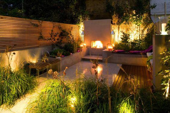 A city garden in London, U.K. Designed by London firm Charlotte Rowe Garden Design
