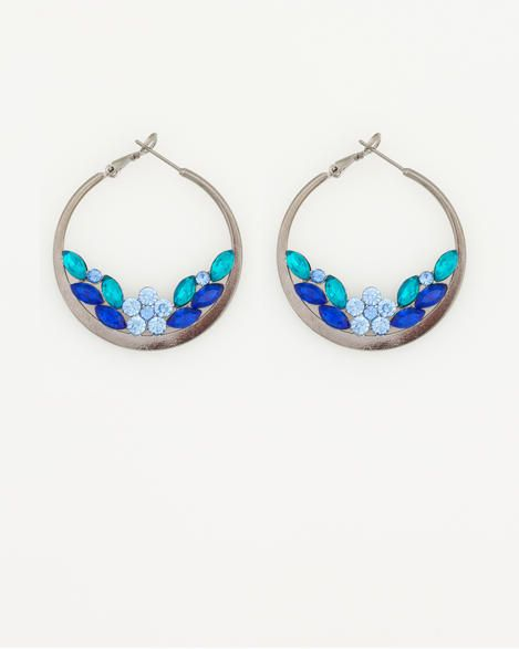 Le Château: Faceted Gypsy Hoop Earring