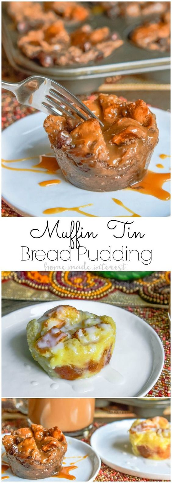 This muffin tin bread pudding is an easy bread pudding recipe that makes individual servings! These are perfect for Thanksgiving dessert or Christmas dessert because you can make multiple flavors in one muffin tin. I've made two of my favorite flavors Sugar Cookie Bread Pudding and Caramel Mocha Bread Pudding. Both are amazing! #DelightfulMoments #ad /walmart/