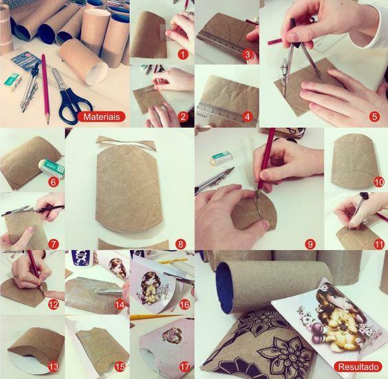 Scatola di tubi di cartone riciclato scatole pinterest for Tubi cartone