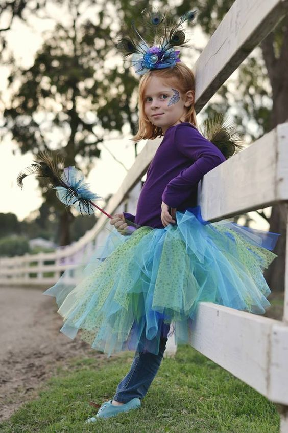 Paige in her halloween 2013 costume, peacock princess