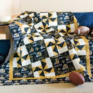 Football Quilt. Free Pattern. Made this last year in a Packers pattern and loved it!!!: