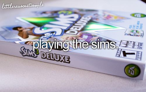 I seriously need to re-download all of my Sims to my computer. I miss it so much.