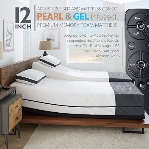 The Ananda 12 Pearl Cool Gel Infused Memory Foam Mattress Premium