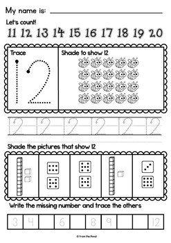 number worksheets worksheets and teacher pay teachers on pinterest. Black Bedroom Furniture Sets. Home Design Ideas