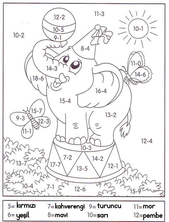 Pin By Emel On 1 Sinif Matematik Math Coloring Education Math Teaching Math