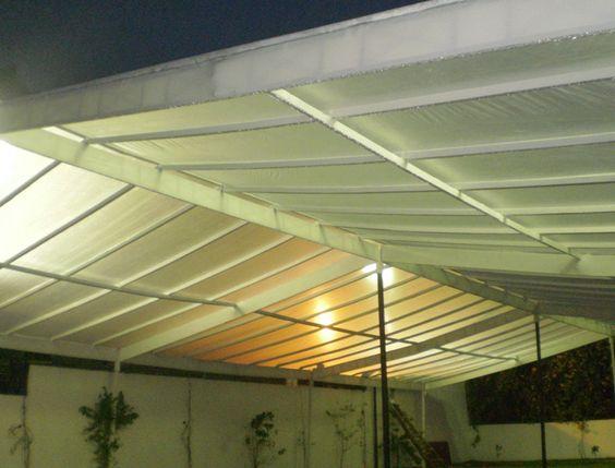 Cobertura Construida Translucida Branca,  para realizacao de casamento no bairro Jardins em São Paulo.