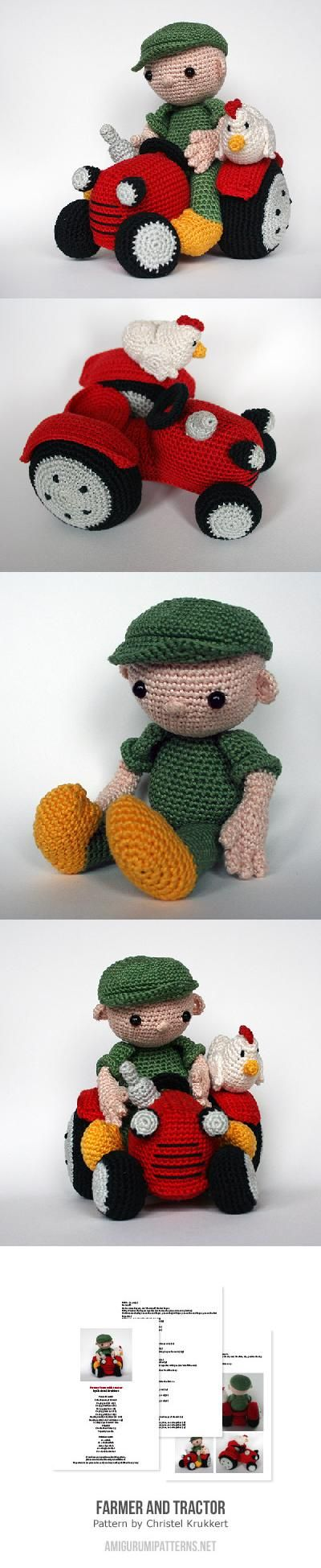 Farmer And Tractor Amigurumi Pattern