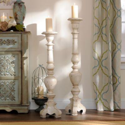 Antique White Floor Candle Holder, 36 in | Antigüedades, Lugares y ...