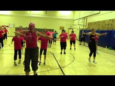 Heather's Zumbathon! Breast Cancer Routine....love it <3