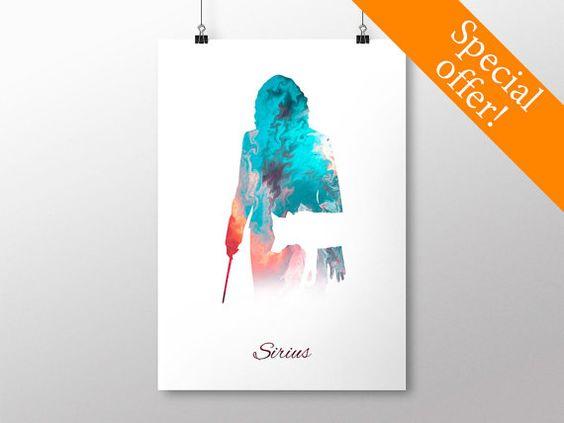 PRINTABLE Sirius Black Poster - Harry Potter Print, Harry Potter Poster