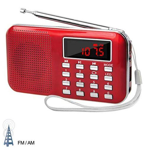 Lefon Mini Digital Am Fm Radio Media Speaker Mp3 Music Player