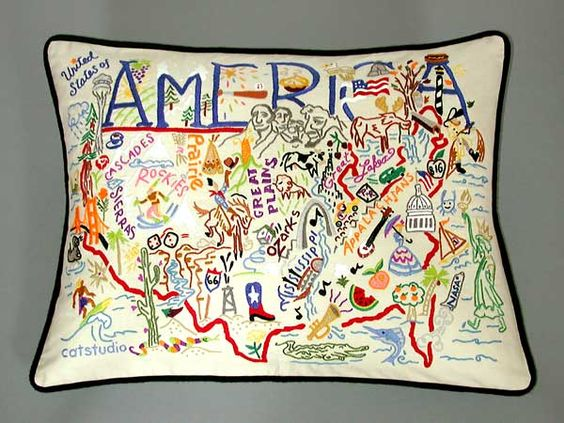 America Country Pillow