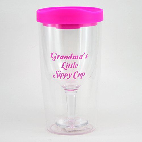 Grandmas Sippy Cup Wine Glass  Funny Grandmother Gift ** You can find out more details at the link of the image.
