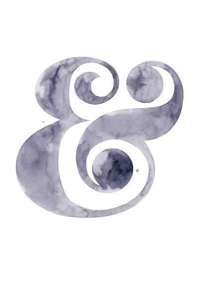 Watercolour Ampersand Art Print Art + Designed Objects