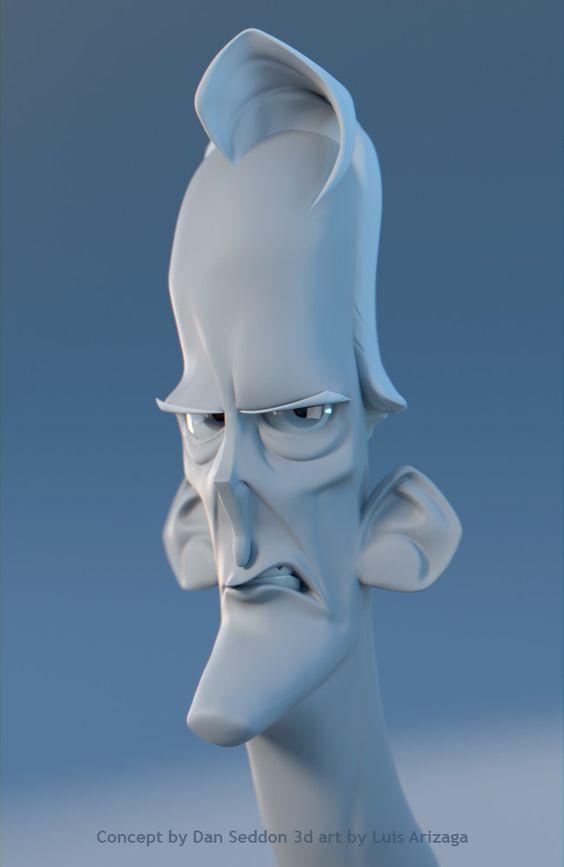 3D sculpt sketch, Luis Arizaga Rico on ArtStation at https://www.artstation.com/artwork/8rKGG: