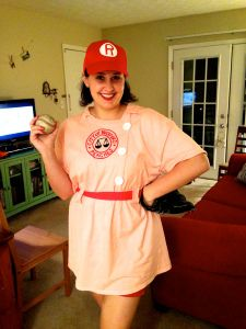 Rockford Peach costume from a t-shirt.
