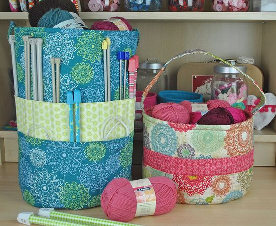 Knitters tote & Crochet tote bag. This is a copyright design by Sew Sweet ::: Please DO NOT COPY!