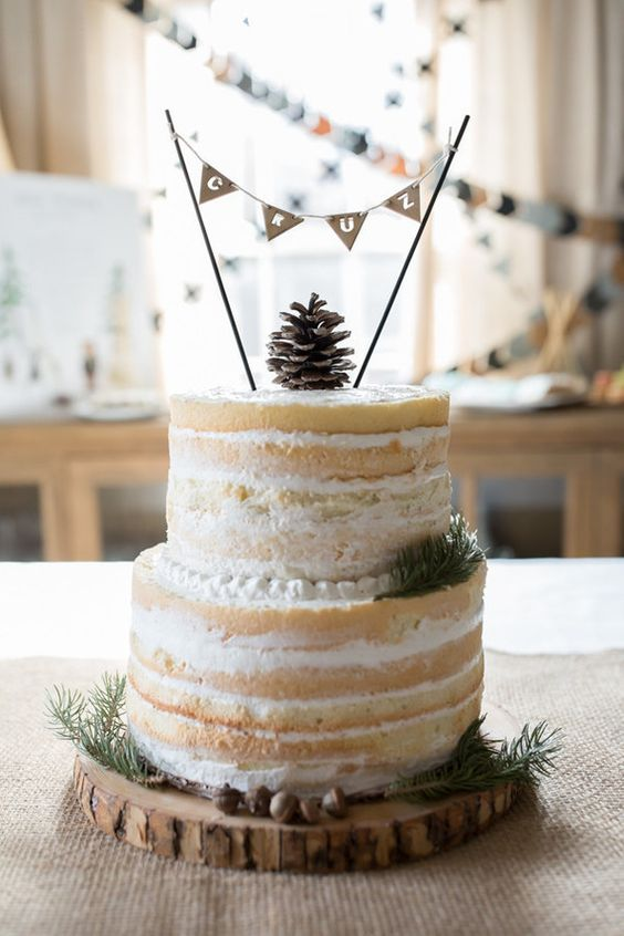 Naked Layer Cake Cakelet Kid Parties Pinterest