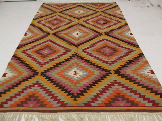 Vintage Turkish Kilim Rug Carpet  -It is vintage and handvowen  -Its size are 79 x 124 201 x 316 cm  -Payment accept via only PayPal  -Shipped from