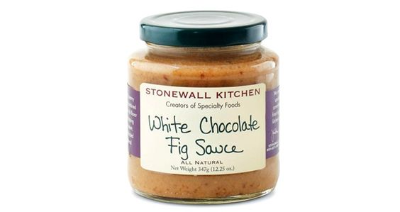 Stonewall Kitchen's White Chocolate Fig Sauce is an all-natural dressing that's capable of complementing a wide range of desserts.Gluten-free, this product is made with creamy, white chocolate and sweet fig