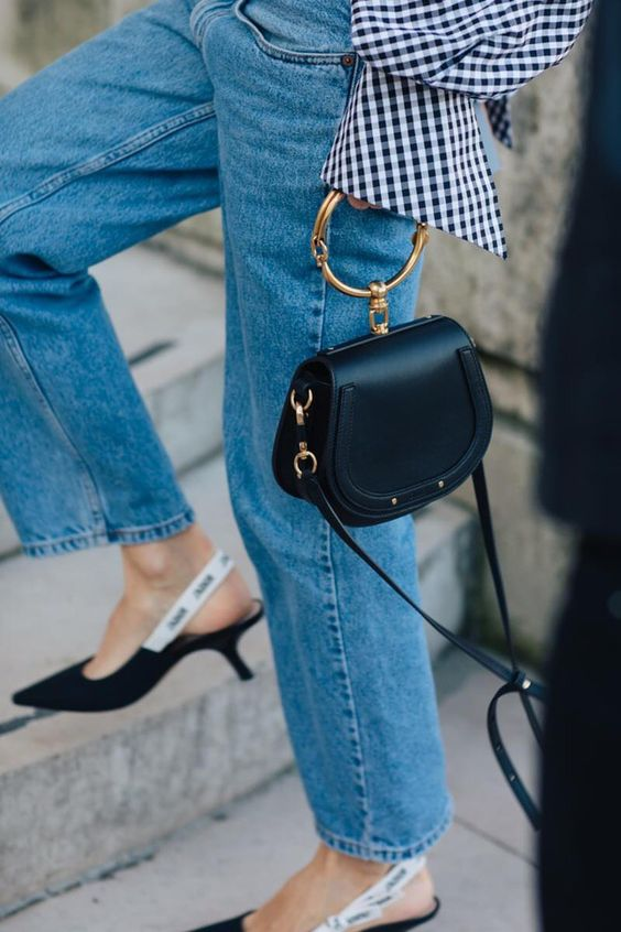 Denim, gingham, black. Oh, and those super cute Dior shoes that I probably wouldn't be able to keep on.
