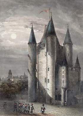 La prisión de Temple, una fortaleza medieval en París. Luis XVI y la familia real fueron encarcelados aquí. Obtenga más información al respecto en el blog excitante exquisiteces sobre la vida y obra de María Antonieta.