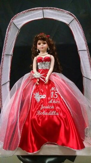 Custom made 15 añera dress with name engraved by Karen's Bridal