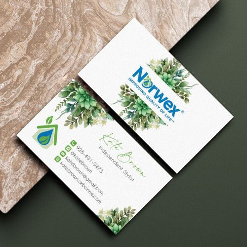 Greenery Norwex Business Cards Norwex Independent Consultant Nw09 Norwex Cleaning Business Cards Arbonne Business Cards