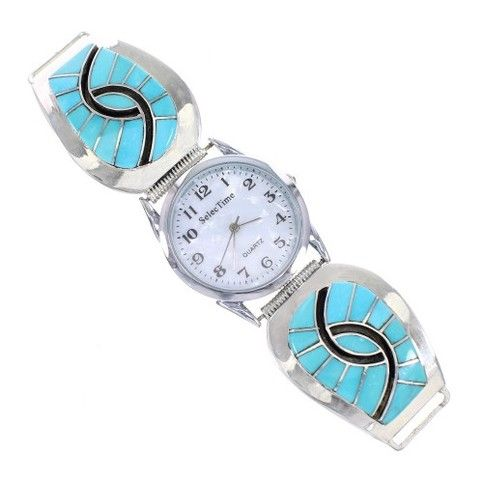 GREAT CHRISTMAS GIFT IDEA Silver Turquoise Inlay Navajo Watch  sold by AriFabish88. Shop more products from AriFabish88 on Storenvy, the home of independent small businesses all over the world.