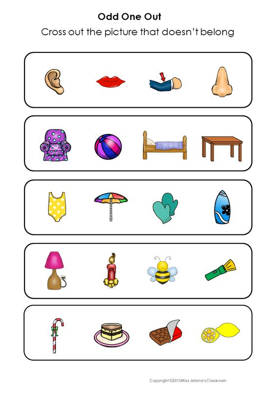 Odd One Out – Odd One out Worksheets for Kindergarten