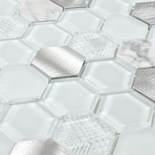 glass metal mosaic tile aluminum