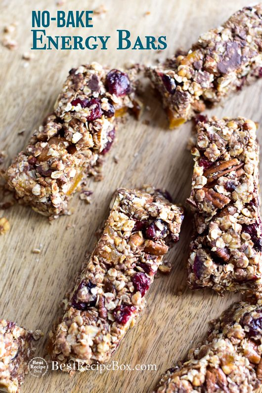 No Bake Energy Bars With Dried Fruit And Nuts Best Granola Bars Recipe Recipe Energy Bars Recipe Granola Recipe Bars Best Granola Bars