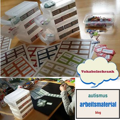 Autismus Arbeitsmaterial: Vokabelschrank